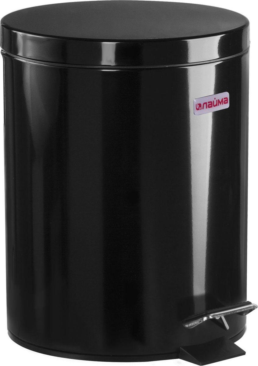 Контейнер для мусора Лайма Classic с педалью, 604943, черный