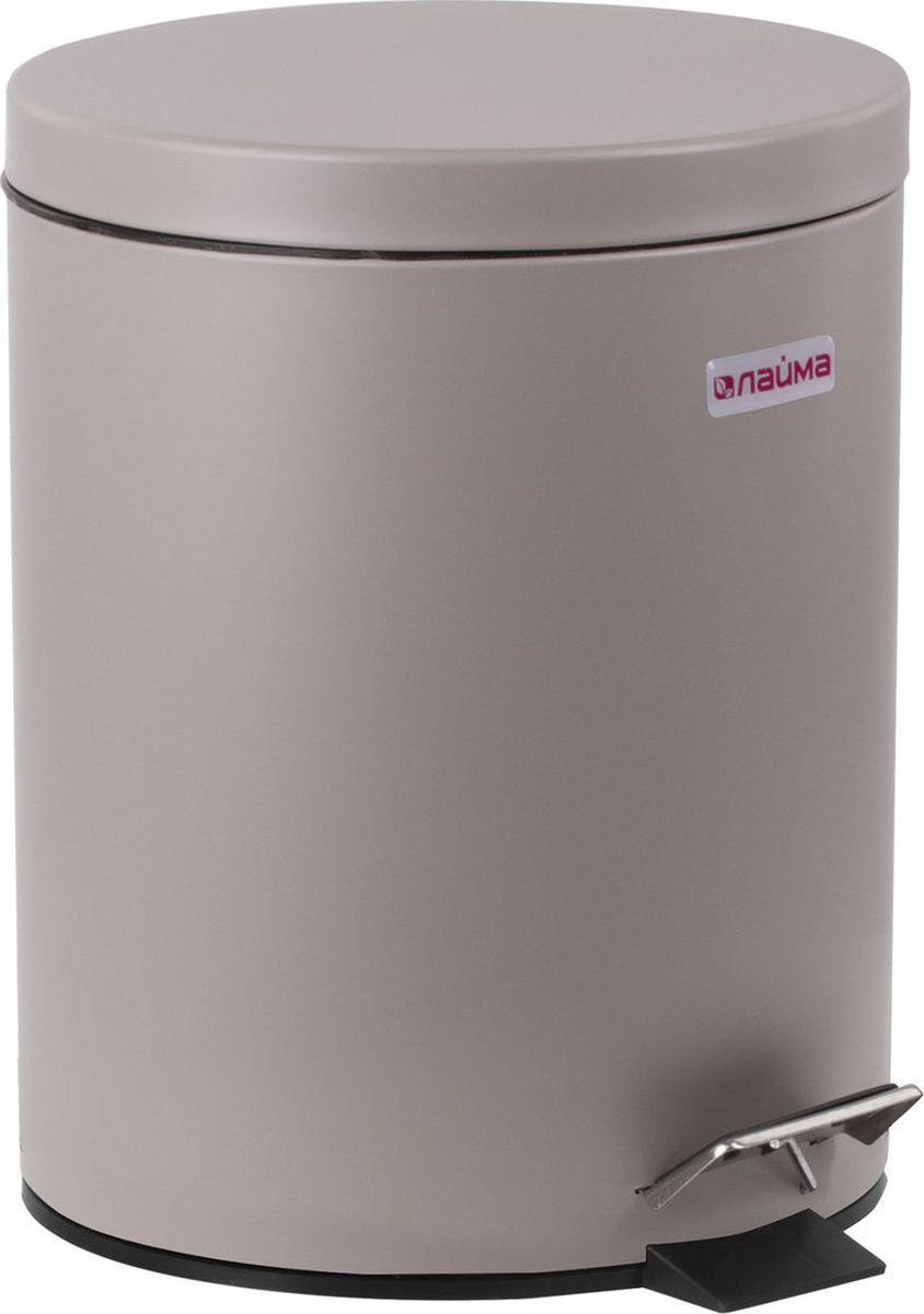 Контейнер для мусора Лайма Classic с педалью, 604944, серый ведро контейнер для мусора лайма classic 5l 232260