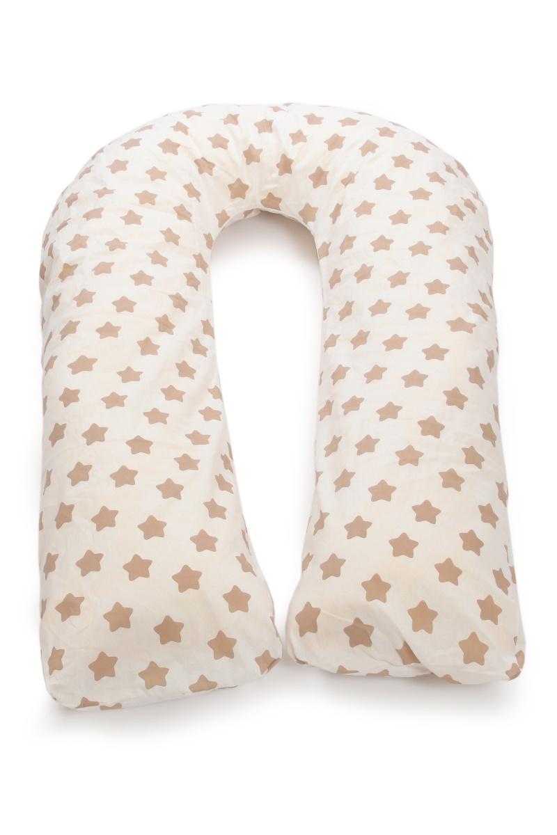 Подушка для кормящих и беременных Sonvol U340, U340/Коричневые-звезды, белый