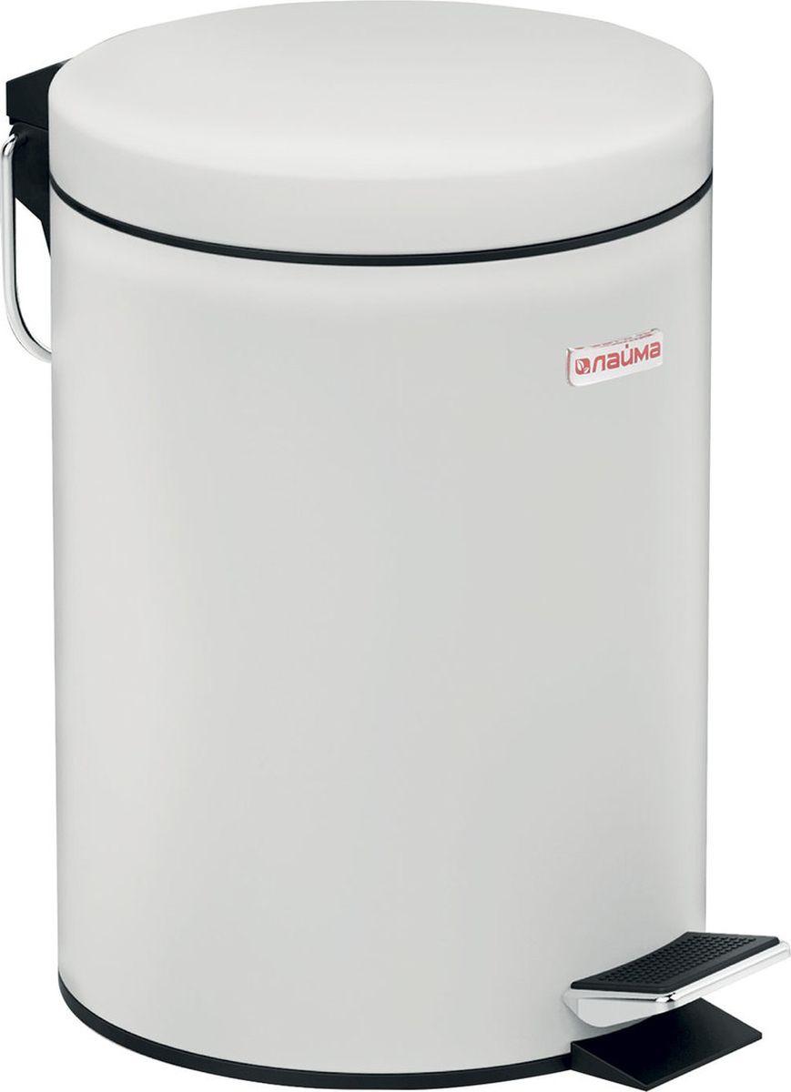 Контейнер для мусора Лайма Classic с педалью, 604947, белый