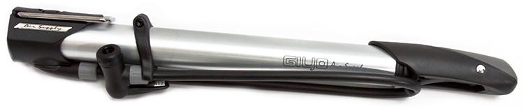Велосипедный насос Giyo GM-06, черно-серый насос велосипедный zefal z cross al ручной цвет серый металлик