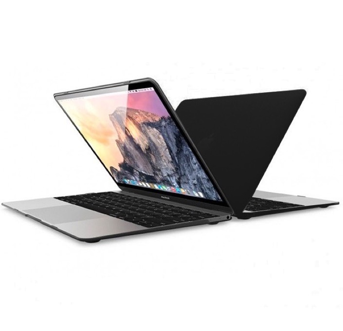 """Чехол для ноутбука Gurdini Чехол Gurdini MacBook 12"""" накладка пластик матовый черный, 220201"""