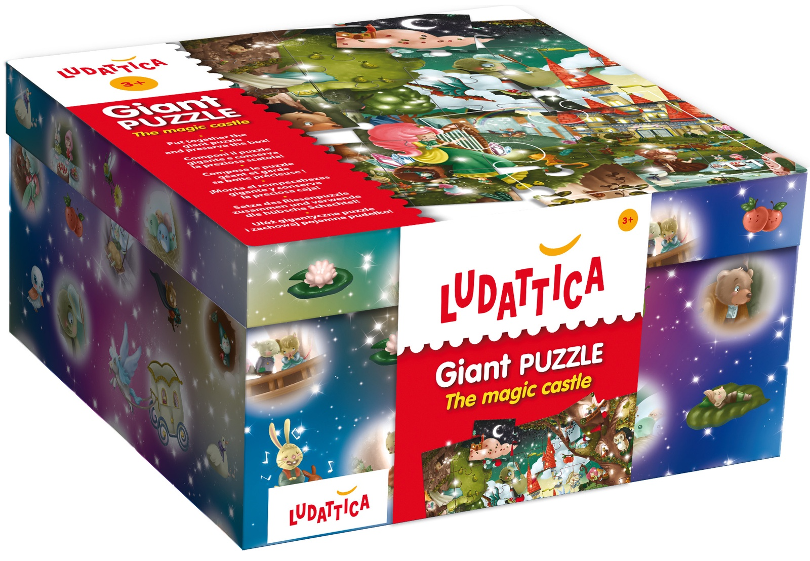 LUDATTICA Паззл гигантский ВОЛШЕБНЫЙ ЗАМОК паззл vintage puzzles