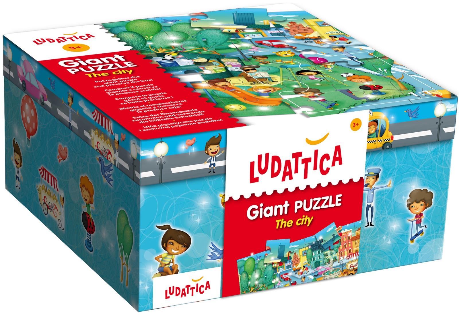 LUDATTICA Паззл гигантский ГОРОД паззл vintage puzzles