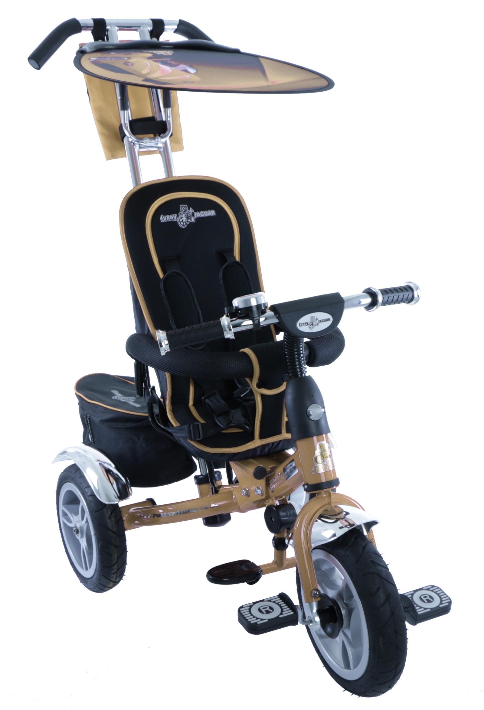 Велосипед Lexus Trike MS-0561, светло-бежевыйMS-0561сахараТрехколесный велосипед с надувными колесами Lexus Trike Original Vip! Колеса выполнены с красивыми дисками и дополнены хромированными крыльями. Родители могут управлять велосипедом с помощью специальной ручки. Она надежная, удобная. Переднее колесо может вращаться без педалей. Функция «свободный руль», также позволяет поворачивать руль во все стороны, и в тоже время не мешать управлению. Lexus Trike Original Vip имеет большое сиденье, с высокой спинкой, которое дополнено мягким чехлом. Элемент безопасности – пяти-точечные ремни с мягкими накладками. За сиденьем велосипеда расположено багажное отделения.