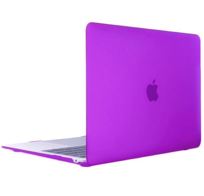 Чехол для ноутбука Gurdini Чехол для Macbook Air 13 New 2018 накладка пластик матовый фиолетовый, фиолетовый чехол для ноутбука gurdini чехол для macbook air 13 new 2018 накладка пластик матовый малиновый