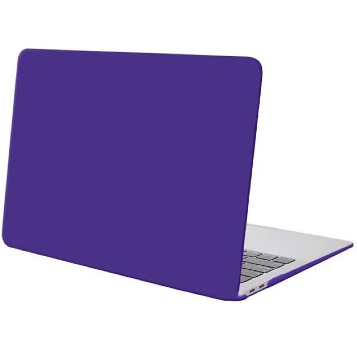 Чехол для ноутбука Gurdini Чехол для Macbook Air 13 New 2018 накладка пластик матовый темно-фиолетовый чехол для ноутбука gurdini чехол для macbook air 13 new 2018 накладка пластик матовый малиновый