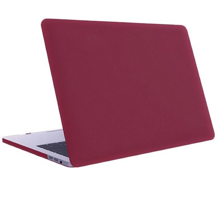 Чехол для ноутбука Gurdini Чехол для Macbook Air 13 New 2018 накладка пластик матовый бордовый, бордовый аксессуар чехол 13 inch gurdini для apple macbook air 13 plastic matt oem pink 220012