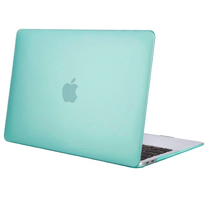 "Чехол для ноутбука Gurdini Чехол для Macbook Air 13"" New 2018 накладка пластик матовый бирюзовый, бирюзовый"