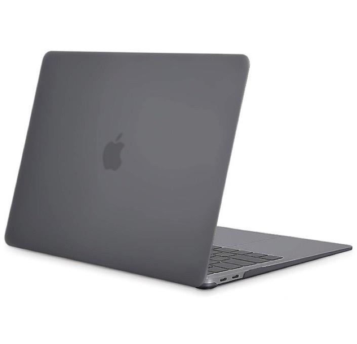 """Чехол для ноутбука Gurdini Чехол для Macbook Air 13"""" New 2018 накладка пластик матовый серый, темно-серый"""