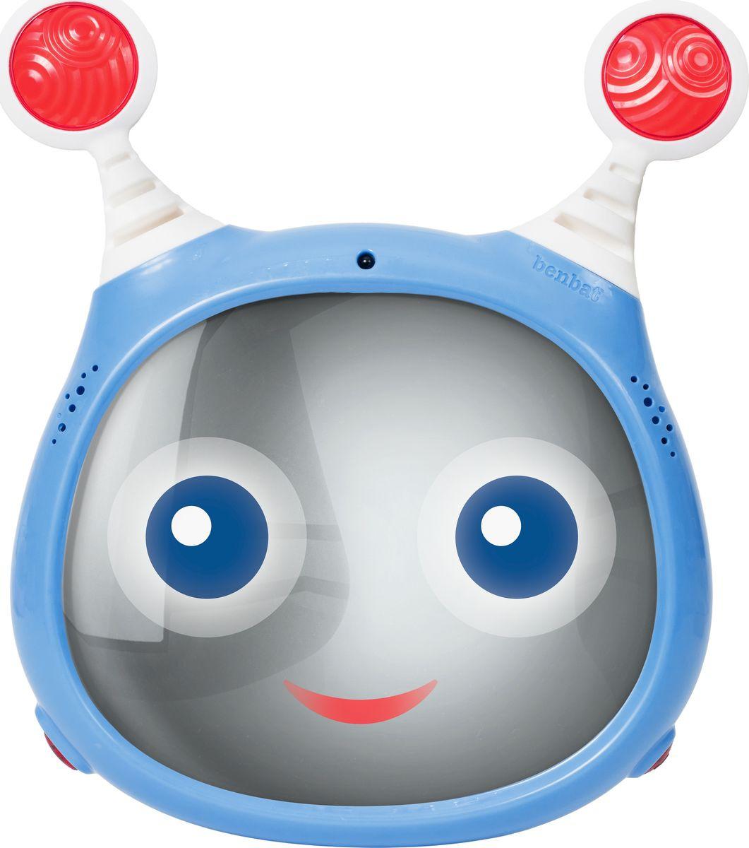 Зеркало для контроля за ребенком BenBat Oly Active, BM704, голубойBM704Широкоугольное зеркало Oly поможет вам наблюдать за вашим ребенком во время движения Мигающие глазки и светящаяся улыбка, а также функция воспроизведения 4 мелодий и 4 звуковых эффектов поможет развлечь ребенка в пути или успокоить плачущего малыша Эффектами можно управлять как дистанционно (с помощью пульта), так и с помощью кнопок на пластиковой панели Регулируемый угол наклона позволяет оптимально расположить зеркало в машине.