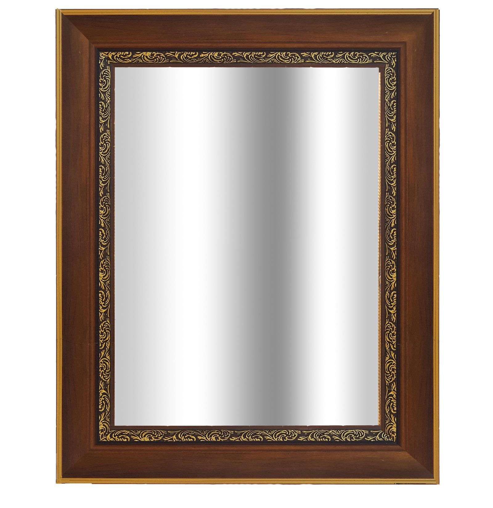 цена на Зеркало в багетной раме CLASSIC 40х50см,коричненый/золото