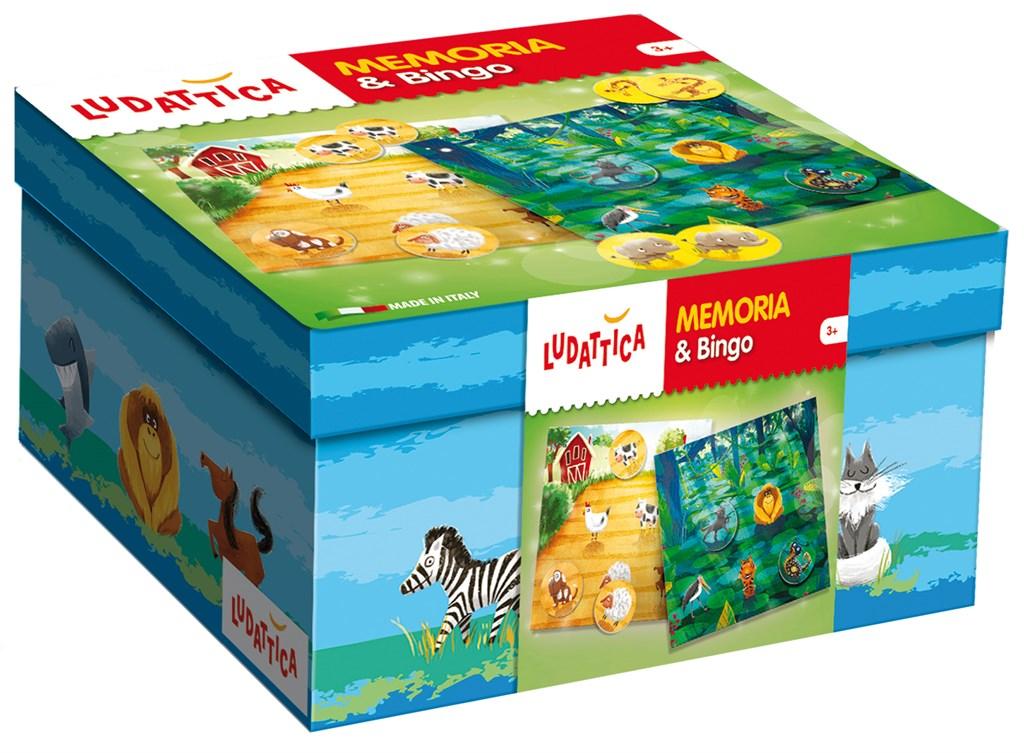 Игра мемори + лото Ludattica 2 в 1 (5 карточек) lisciani ludattica паззл 8 1 морские обитатели 8 в 1