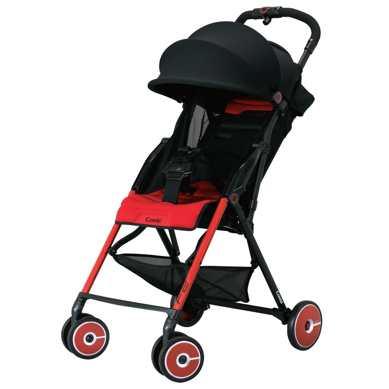 Combi F2 детская японская коляска, красная