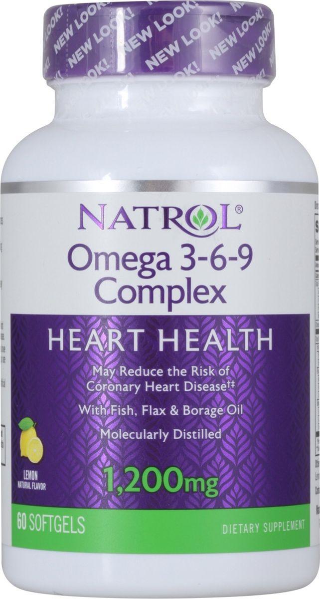 Комплекс омега-кислот 3-6-9 Natrol, 60 капсул