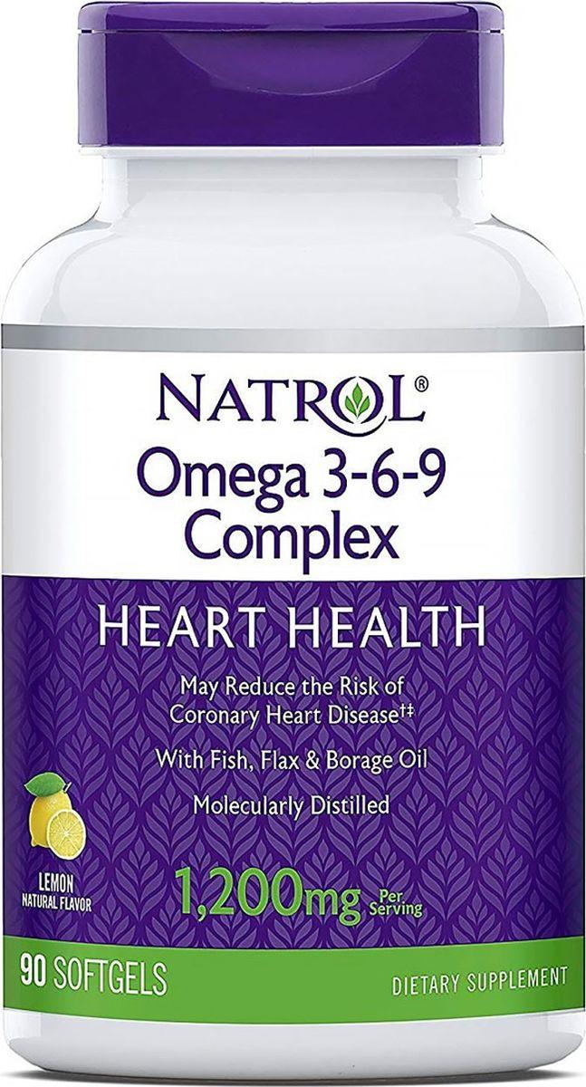 Комплекс омега-кислот 3-6-9 Natrol, 90 капсул