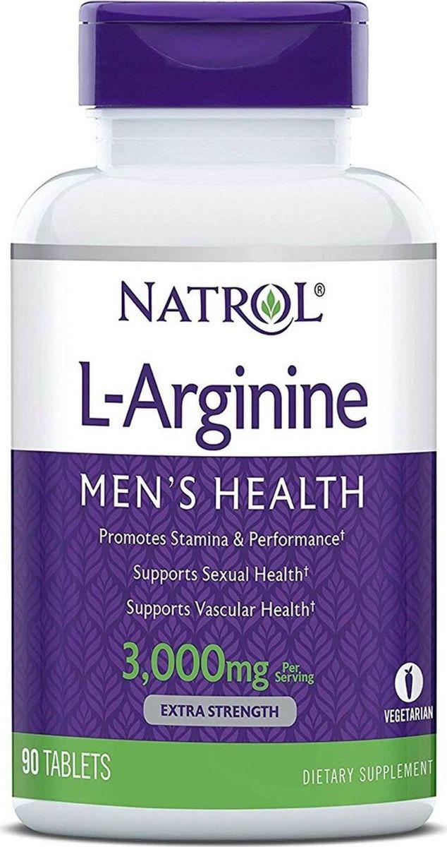 L-Аргинин Natrol, 90 таблеток витамины и минералы natrol natrol ginkgo biloba 120 mg 60 капсул