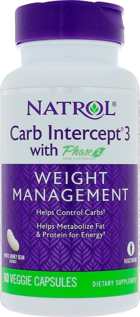 Энергетик Natrol Карб Интерсепт 3, 60 капсул