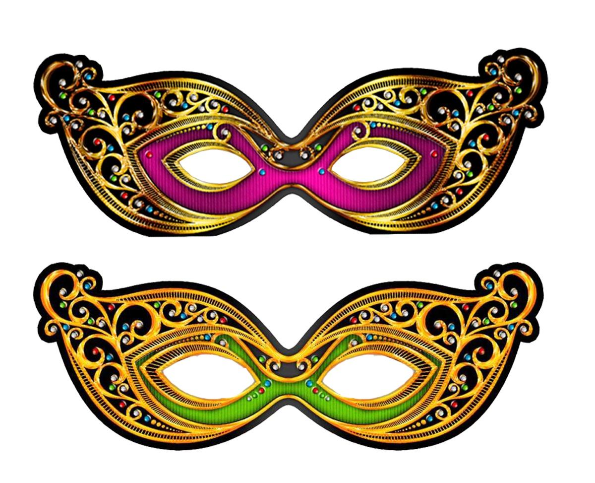 """Маска карнавальная АртХаус Карнавальные маски - очки ВенецияMAS2-3Набор из 2-х блестящих масок для праздника """"Венеция"""". Изготовлены из металлизированного картона (блестят золотом/серебром) с золоченной резинкой. Цвета фиолетовый и изумрудный. Для взрослых и детей."""