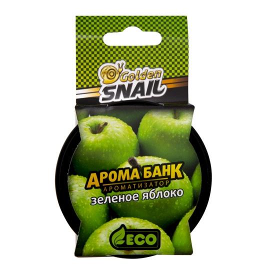 Автомобильный ароматизатор Golden Snail АРОМА БАНК ЭКО (Зеленое яблоко) автомобильный ароматизатор golden snail жемчуг ваниль