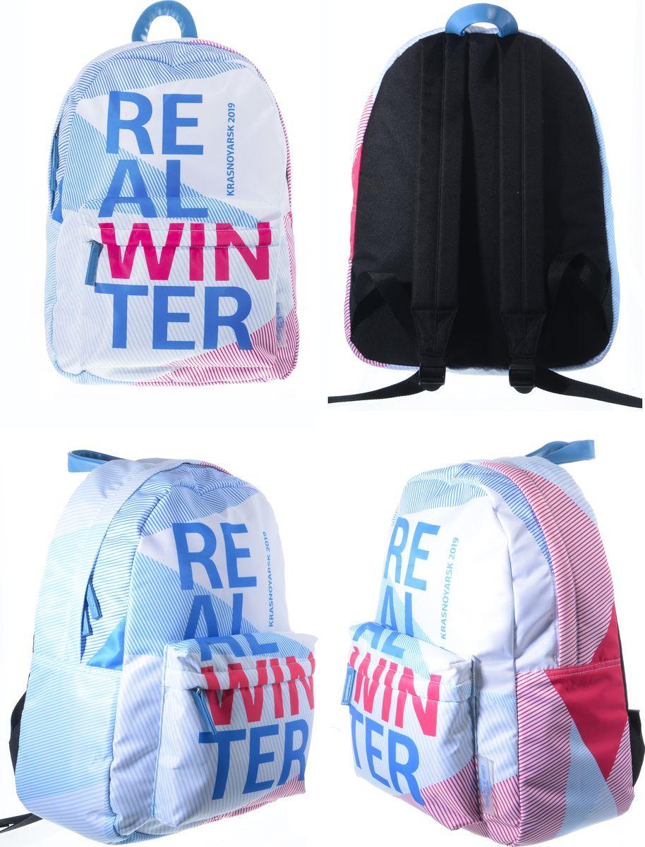 Рюкзак Robin Ruth Universiade, BW003-A, белый, голубой брелок ключница robin ruth цвет черный khg048 a