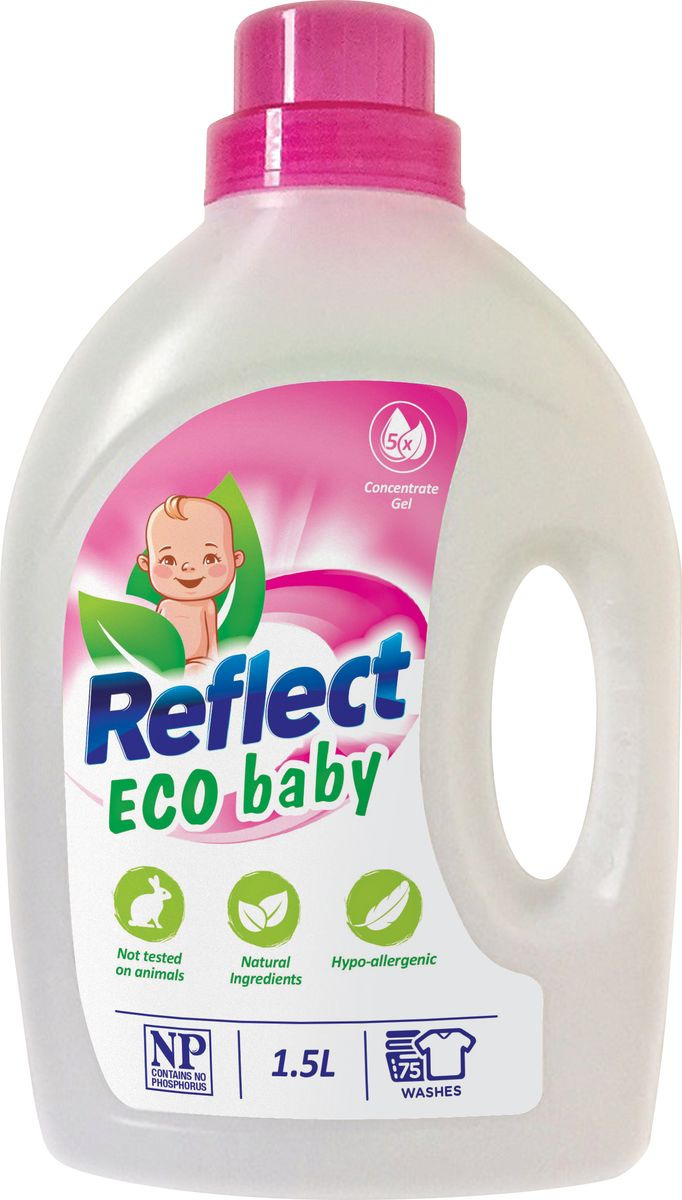 Средство для стирки детского белья Reflect Eco Baby, концентрированное, 1,5 л