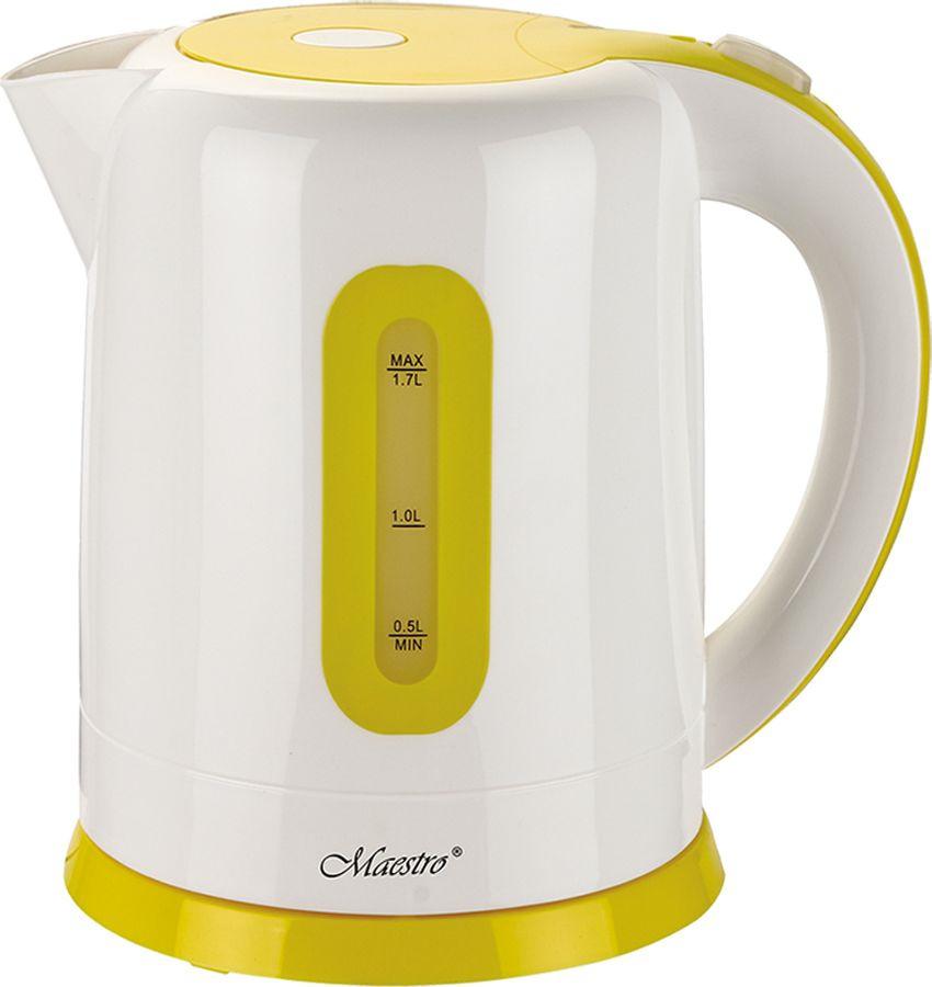 Электрический чайник Maestro, MR-040, желтый, красный диван смк бонн 040 2х к з санторини 0421 красный