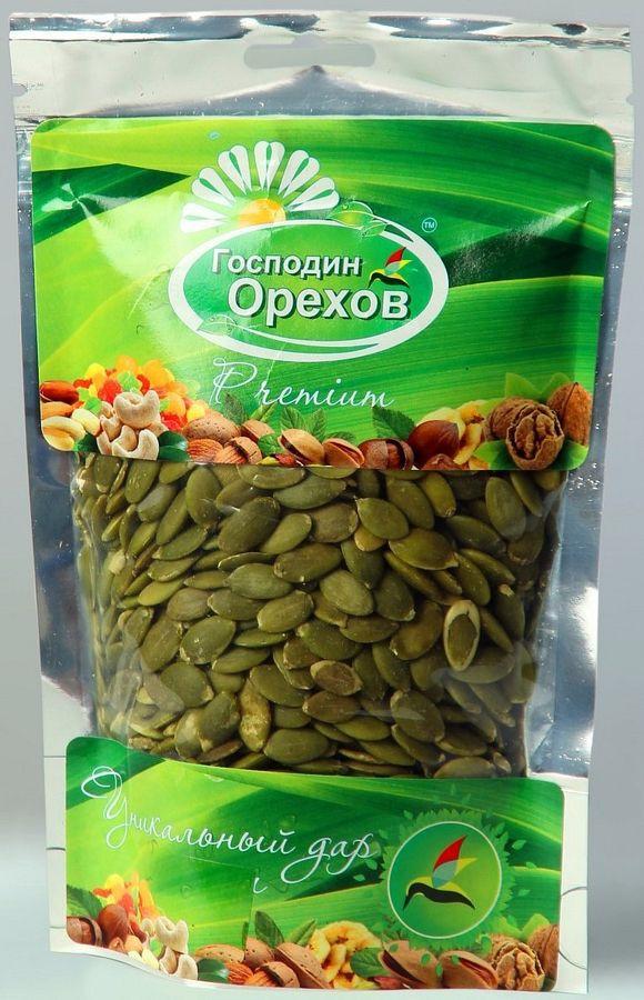 Семечки тыквы Господин орехов, очищенные, 140 г