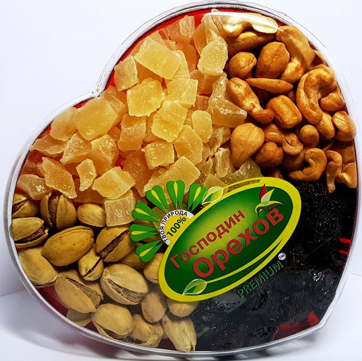Смесь Господин орехов Лакомка Сердце , 340 г