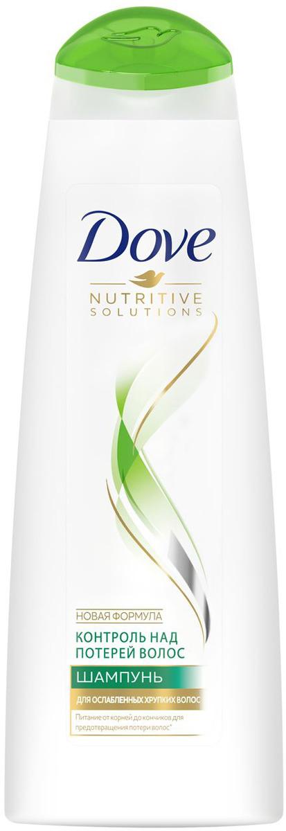 Dove шампунь Hair Therapy Контроль над потерей волос, 380 мл цена