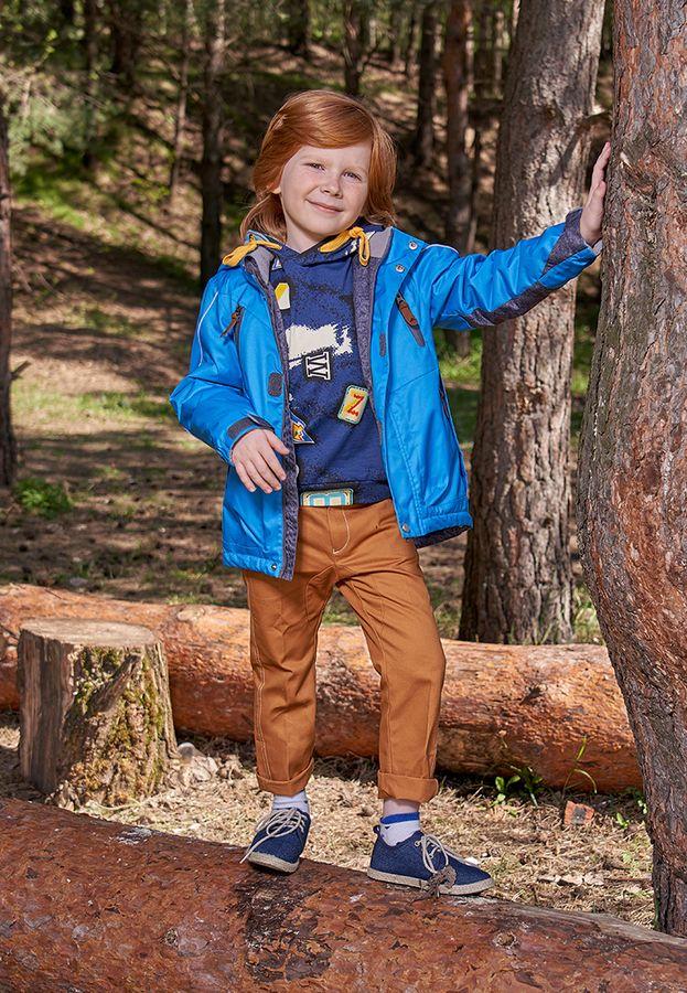 Куртка для мальчика OLDOS ACTIVE Давид, цвет: васильковый. 2A9JK19. Размер 110, 5 лет2A9JK19Куртка утепленная из мембранной коллекции OLDOS ACTIVE. Верхняя ткань с мембраной 3000/3000 обеспечивает водонепроницаемость, при этом одежда дышит. Покрытие TEFLON повышает износостойкость, а так же облегчает уход за изделием. Гипоаллергенный утеплитель HOLLOFAN 100 г/м2 эффективно удерживает тепло. Подкладка - флис, в рукавах - полиэстер. Куртка прямая, однотонная с цветными вставками, имеет карманы с водонепроницаемыми молниями, светоотражающие элементы, информационную нашивку-потеряшку. Куртка прекрасно защитит от непогоды благодаря продуманному функционалу: съемному капюшону, воротнику-стойке, двойной ветрозащитной планке, манжетам на резинке с дополнительной регулировкой на липучке. Низ куртки регулируется по ширине. Рекомендовано от минус 5 С до плюс 10 С.