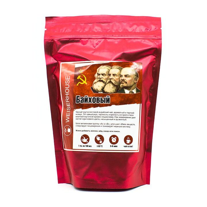Чай листовой Weiserhouse БайховыйГП-00006195Черный крупнолистовой индийский чай, ароматный и терпкий на вкус. Тот самый вкус, терпкость и крепость которого стали визитной карточкой времен социализма. При заваривании дает настой коричневого цвета, насыщенный и ароматный.Богат витаминами группы «А» и «В», улучшает обмен веществ, стимулирует пищеварение и тонизирует нервную систему.Способ приготовления: 1 гр. на 100 мл. воды, t 95°С. Время заваривания 5-6 мин.Можно добавить молоко, мёд, сахар или лимон.Настой: темно-коричневый, с янтарным отливом;Аромат: хлебных корочек с легкими фруктовыми нотками;Вкус: терпкий, хлебный, с едва уловимыми сладкими нотками и смородиновой горчинкой в послевкусии;