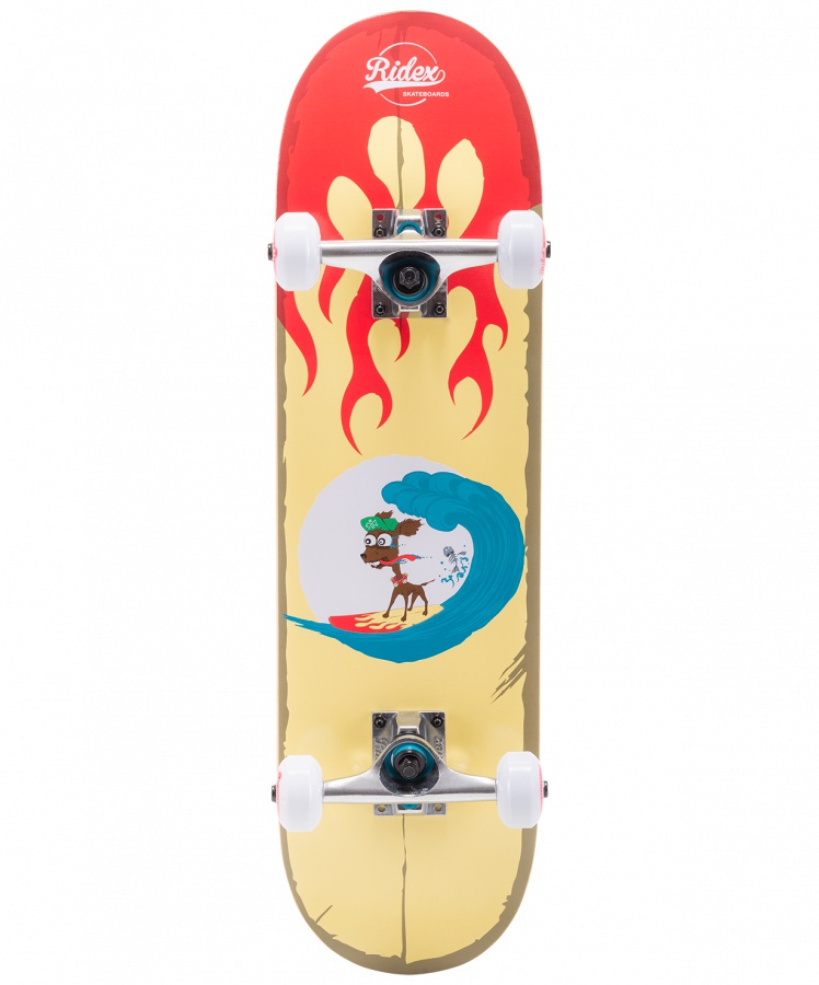 Скейтборд RIDEX 27.5?X7.5?, ABEC-5, Surf скейтборд ridex miami ут 00014316