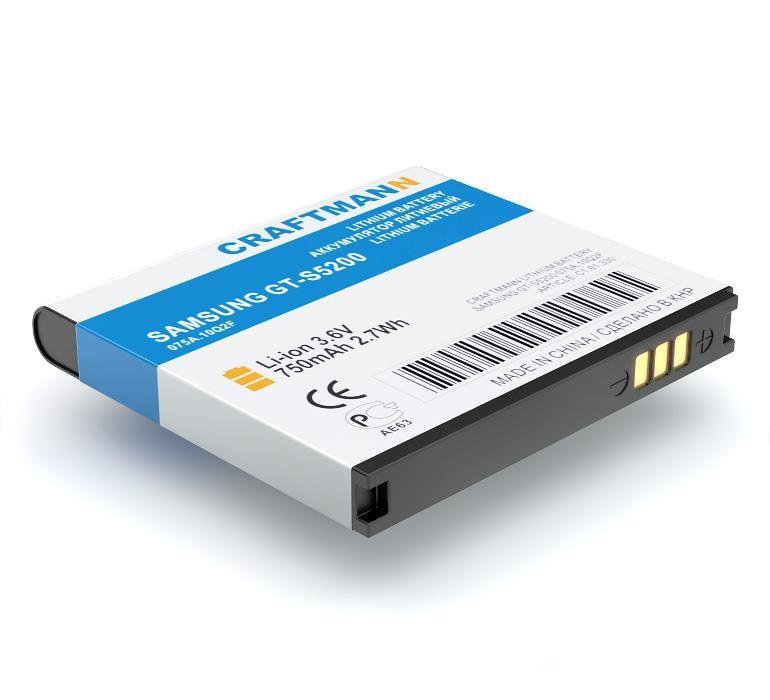 Аккумулятор для телефона Craftmann EB504239HU для SAMSUNG GT-S5200, A187, GT-S5200, GT-S5530