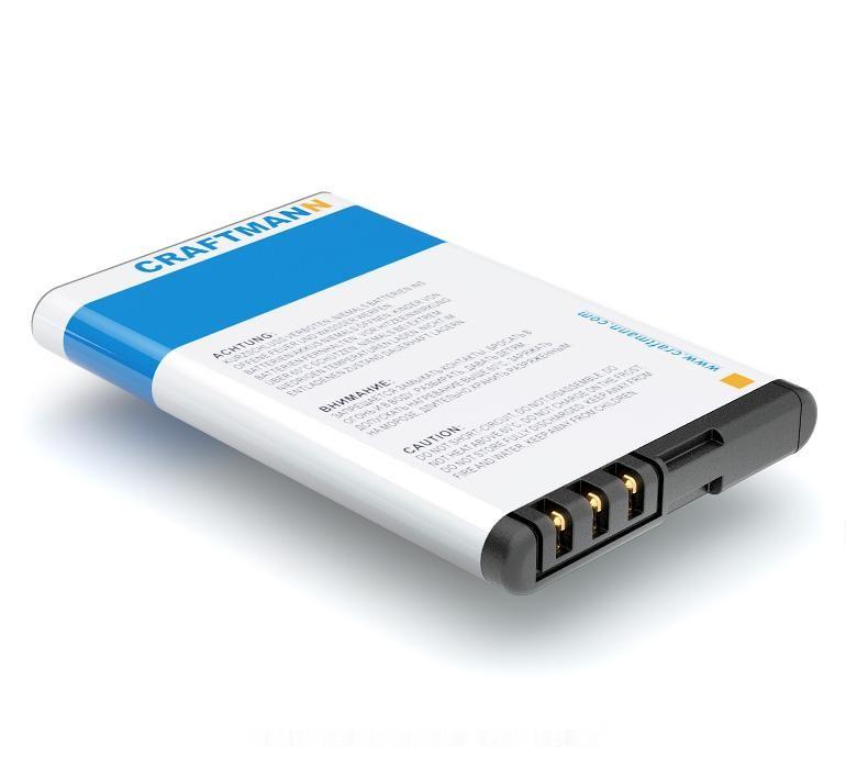 Аккумулятор для телефона Craftmann BL-5CT для Nokia 5220 XpressMusic, 3720 Classic, 5220, 6303i Classic, 6303 Classic, 6730 Classic, C3-01, C5, C5-00, C6-01, Fly OD1, Fly BL6301