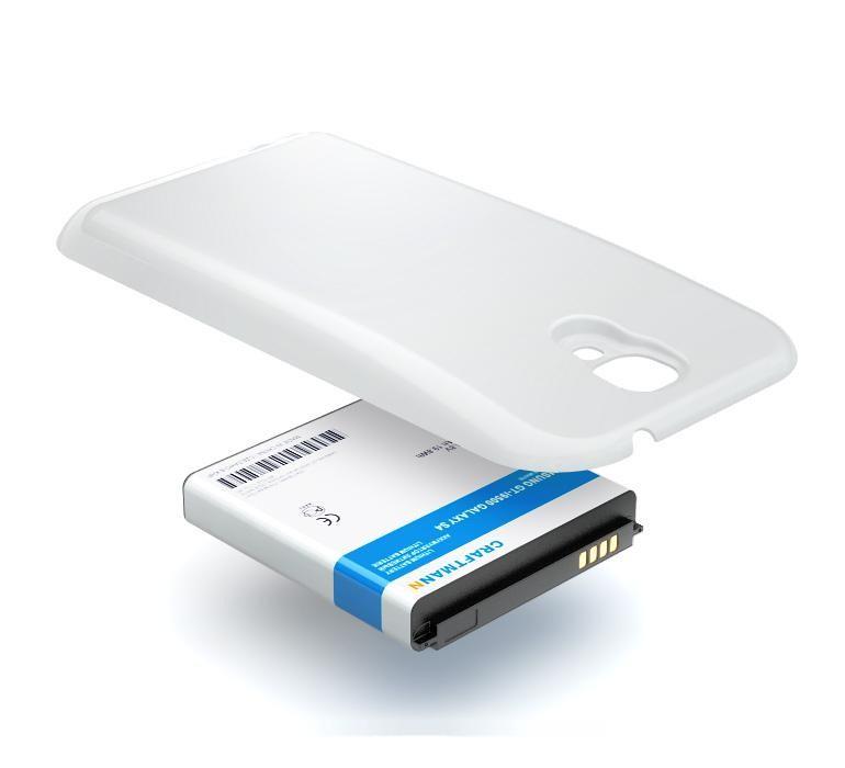 Аккумулятор для телефона Craftmann B600BE для Samsung Galaxy S4 GT-i9500 с увеличенной ёмкостью и крышкой белого цвета аккумулятор для телефона craftmann для apple iphone 5s с увеличенной ёмкостью 1690 mah a69ta006h