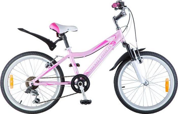 Велосипед Novatrack Novara, сиреневый, 20 велосипед детский novatrack fs 30 цвет светло сиреневый белый черный 20