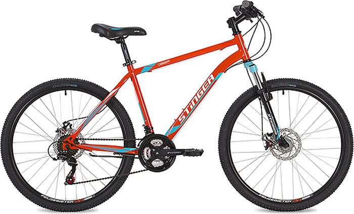 Велосипед Stinger Caiman D, оранжевый, 26, рама 16