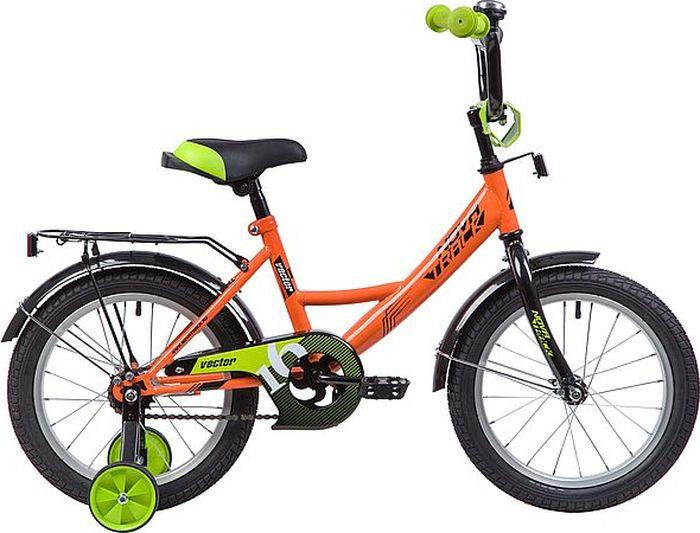 Велосипед Novatrack Vector, оранжевый, 16 велосипед novatrack vector 12 зелёный