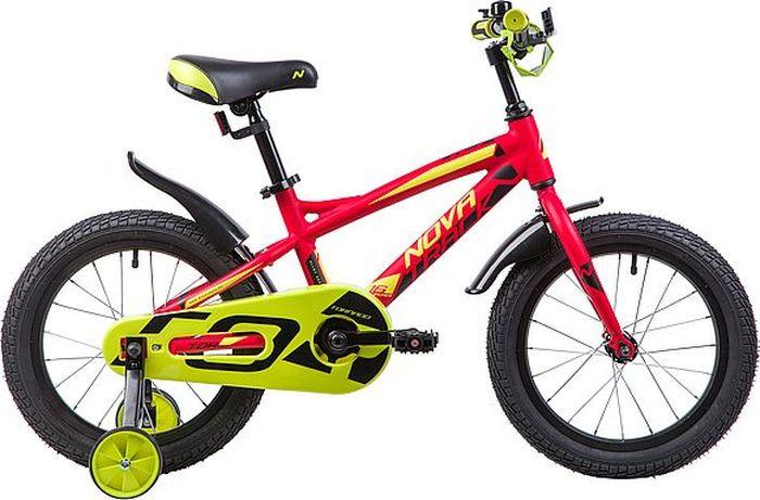 Велосипед Novatrack Tornado, красный, 16 велосипед novatrack 16 зебра бордово белый 165 zebra clr6