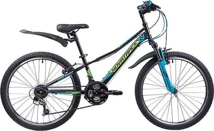 Велосипед Novatrack Valiant, черный, 24, рама 12 велосипед детский novatrack action цвет черный 24