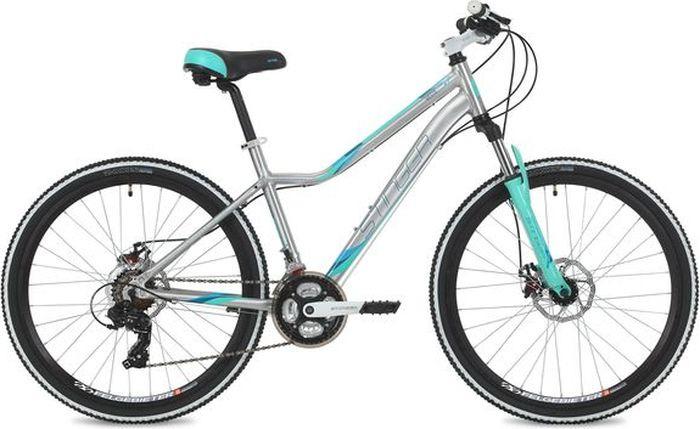 Велосипед Stinger Vesta Evo, серебристый, 26, рама 19