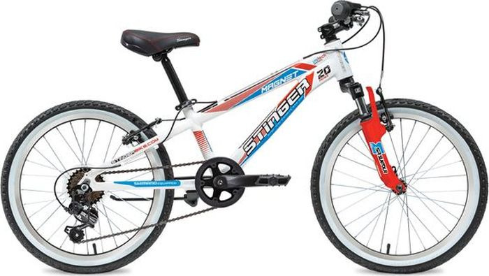 Велосипед Stinger Magnet TY21/TS-38, белый, 20, рама 10 stinger stinger велосипед fiona kid 20