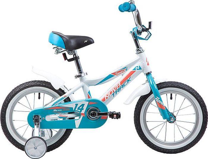 Велосипед Novatrack Novara, 145ANOVARA.WT9, белый, 14 велосипед для малышей 3 5 лет 14 500 робот