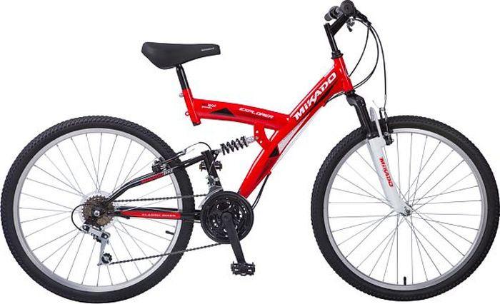 Велосипед Mikado Eхplorer, красный, белый, 26