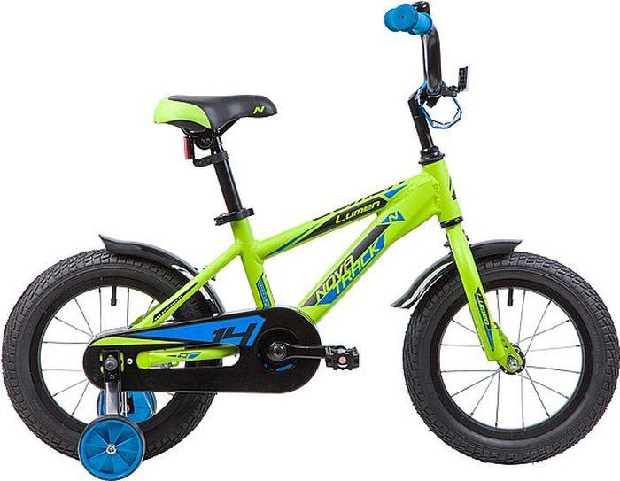 Велосипед Novatrack Lumen, зеленый, 14