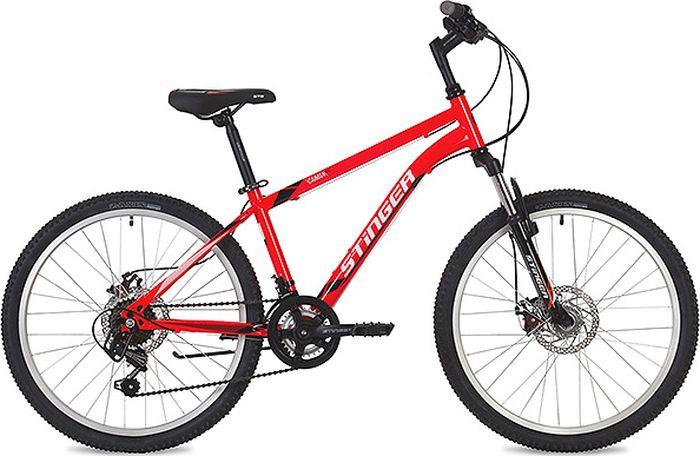 """Велосипед Stinger Caiman D, красный, 24"""", рама 12"""""""