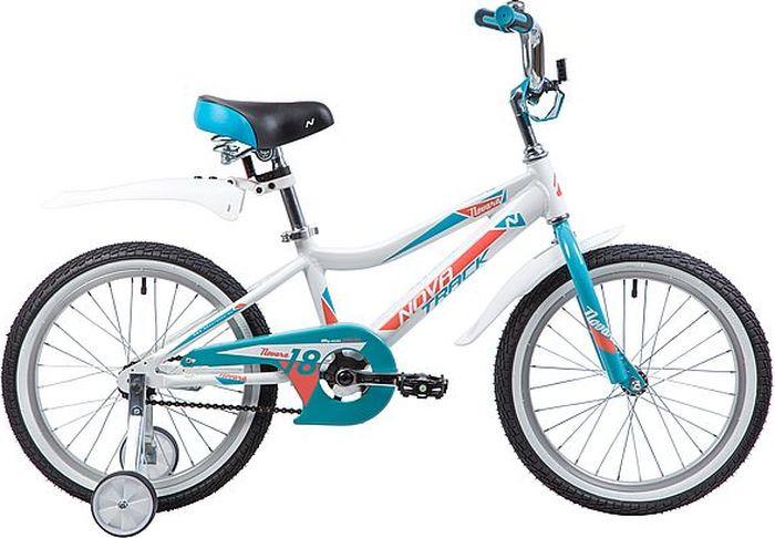 Велосипед Novatrack Novara, белый, 18185ANOVARA.WT9Novatrack Novara 18 - cтильный и яркий дизайн, не оставит равнодушной ни одну маленькую леди. Цепь полностью закрыта от попадания одежды в механизм. Дополнительные колеса обеспечивают устойчивость во время обучения самостоятельному катанию на велосипеде и снимаются, после того как ребенок освоит азы равновесия. Рекомендуем!