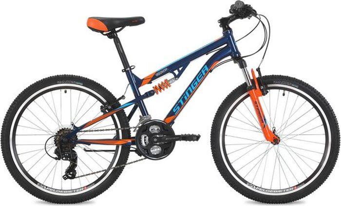 Велосипед Stinger Discovery, синий, 24, рама 14