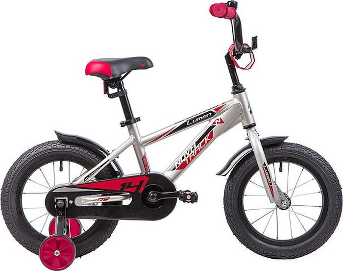 Велосипед Novatrack Lumen, серебристый, 14
